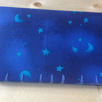 Small Blue Stars Book | Coptic Stitch | Sketchbook | Journal | Notebook