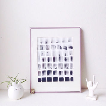 Abstract watercolor / monochromatic decor / minimal watercolor