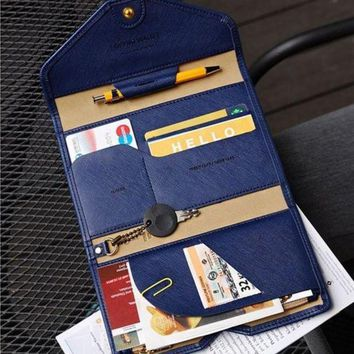 CREYCI7 BILLTERA Women leather travel passport wallet folder men multi-purpose waterproof document cards wallets holders