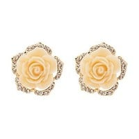 OVERSIZE FLOWER STUD EARRINGS