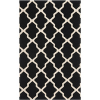 Safavieh CAM121E-24 Cambridge Black and Ivory Runner: 2 Ft. 6 In. x 4 Ft. In. Area Rug - (In Runner)