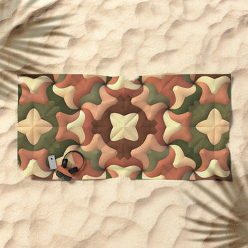 Camouflage Quilt Beach Towel by Lyle Hatch