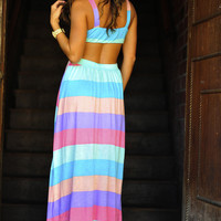 Rainbow Dreams Maxi Dress: Multi | Hope's