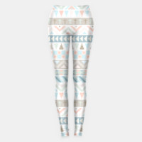Pastel Tribal Pattern Leggings, Live Heroes