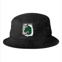 attack on tittan military police Bucket Hat,embroidery