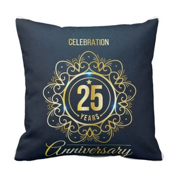 Twenty-Five Years Throw Pillow