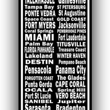 Florida Places Canvas Art Print - Canvas Wall Art that Makes a Statement