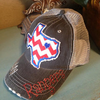 Texas Rangers State Baseball Bling Ladies Womens Trucker Hat