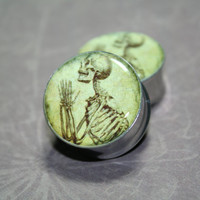 Praying Skeletons Plugs, gauges  0g, 00g, 7/16, 1/2, 9/16, 5/8, 3/4, 7/8, 1 inch