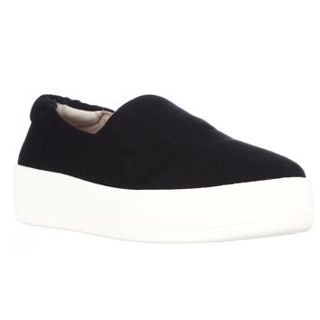 STEVEN by Steve Madden Hilda Slip On Fashion Sneakers, Black, 5.5 US