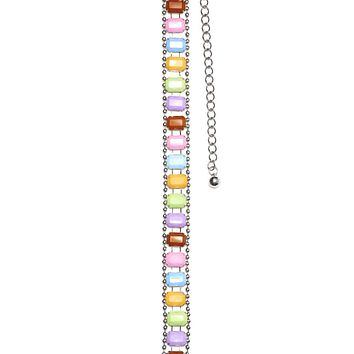 Hard Candy Rainbow Stone Chain Belt