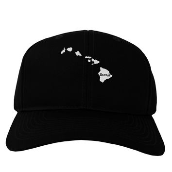 Hawaii - United States Shape Adult Dark Baseball Cap Hat by TooLoud