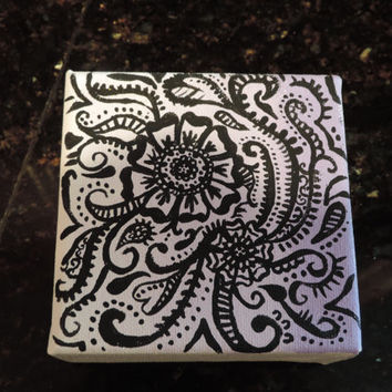Ombre Henna Painted Canvas
