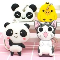 Keychain cartoon  panda  anime cat bear