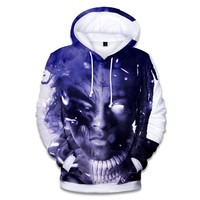 Aikooki 2018 3D Xxxtentacion Hoodies Men/women Fashion Autumn Hip Hop Men's Hoodies and Sweatshirt 3D Print Xxxtentacion Claothe
