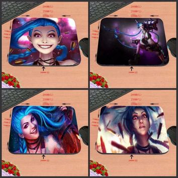 DIY Luxury print New Anti-Slip PC Cartoon Anime Laptop League of Legends Jinx Face LOL Gaming Mouse Pad Mat Me Pad for Optal