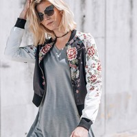 Full Bloom Bomber Jacket