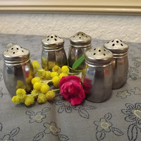 Vintage Baronial Plate 5 Miniature Salt and Pepper Shakers