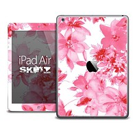 The Fuzzy Pink Floral Skin for the iPad Air