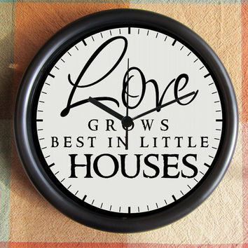 Love grows best in little houses 10 inch Resin by Backstreetcrafts