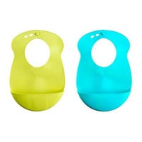 Tommee Tippee Explora Easi Roll Bib, Blue and Green  2 Count (Color may vary)