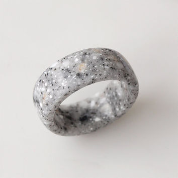 Grey ring, Corian ring, Grey jewelry, Band ring, Platinum ring, Platinum band ring, Men ring, Women ring, Rings, Engagement rings