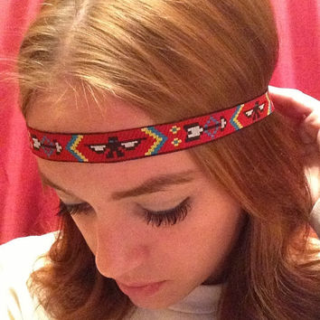 Indian Tribal Print Headband with Elastic Stretch