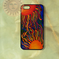 Sun iPhone 5, 5s, 4s, 4, Samsung GS5, GS4, GS3 case, Ipod touch 4 and 5 case-Silicone Rubber / Hard Plastic Case, Phone cover