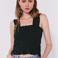 Ecote Smocked Y-Back Tank Top | Urban Outfitters