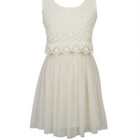 Lace And Tulle Swing Dress