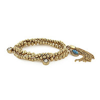 Jessica Simpson 3-Row Metal Bead Bracelet - Multi