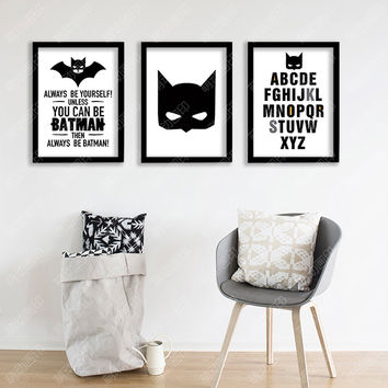 decorative poster batman wall poster kid'room cadre decoratif Quote Canvas Art Print Poster Wall Pictures Frame not include v1