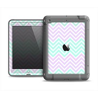 The Light Teal & Purple Sharp Chevron Apple iPad Air LifeProof Fre Case Skin Set