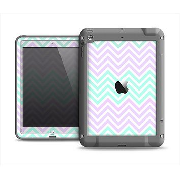 The Light Teal & Purple Sharp Chevron Apple iPad Mini LifeProof Fre Case Skin Set