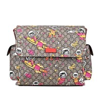 Gucci Space Cats Birds GG Supreme Canvas Diaper Bag Baby 211131