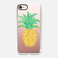 Pineapple - Transparent/Clear background iPhone 7 Case by Lisa Argyropoulos | Casetify