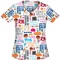 Doc McStuffins Scrub Top For Women