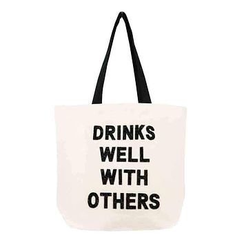 Drinks Well With Others Crystal Tote
