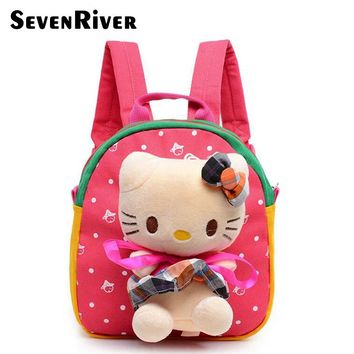 Hello Kitty School Bag Cute Children Cat Dog Backpack For Plush Toy Candy Plush Bag For 1-3 Years Boys Girls Mochila