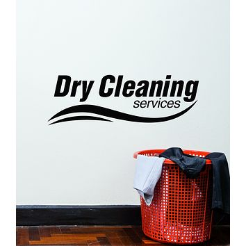 Vinyl Wall Decal Dry Cleaning Service Clothes Laundry Room Stickers Mural (g2988)