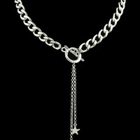 Alloy Chains Pentagram Ball Choker Necklace