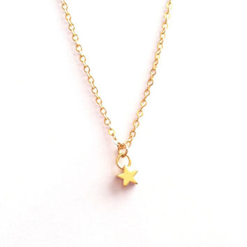 Tiny Star Necklace, Dainty Star Necklace, Gold Star Necklace, Small Necklace, BFF Necklace, Simple Everyday Necklace, Gift Under 20