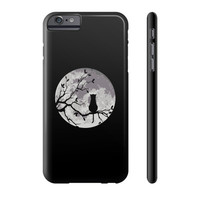 The cat and the moon Phone Case