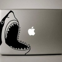 "goodgoodstore (TM) Big shark art decal macbook sticker decor for mac air pro 13"" 15"" vinyl art notebook laptop"