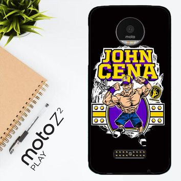 John Cena Cenation Cartoon V0479 Motorola Moto Z2 Play Case