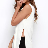 Flawless Strategy Ivory Muscle Tee