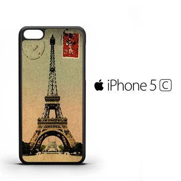 Vintage Eiffel Tower Postcard V0521 iPhone 5C Case