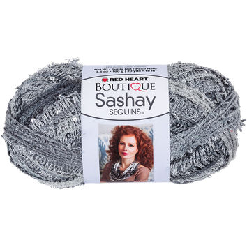 Red Heart Boutique Sashay Sequins Yarn-Smokey
