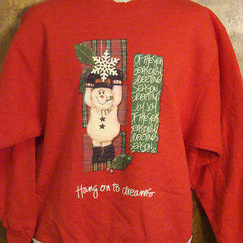 Hang On To Dreams Christmas Sweatshirt