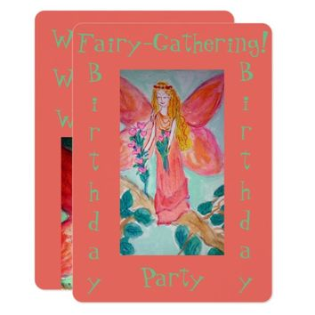 Fairy Birthday Party Card
